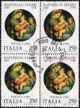 1983 - Natale - 5° Centenario della nascita di Raffaello Sanzio - «La Madonna della seggiola»