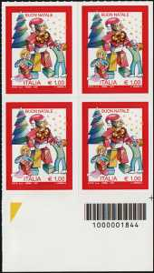 Natale laico - quartina con codice a barre n° 1844