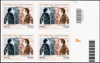 Vittorio Occorsio e Francesco Coco, vittime del terrorismo - quartina  con codice a barre n° 1743