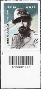 Centenario della nascita di Teresio Olivelli - francobollo con codice a barre n° 1776