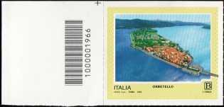 Turistica - 46ª serie  - Patrimonio naturale e paesaggistico : Orbetello ( GR ) - francobollo  con codice a barre n° 1966 a SINISTRA in alto