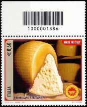 Italia 2011 -  «Made in Italy» - formaggio Parmigiano- codice a barre n° 1386