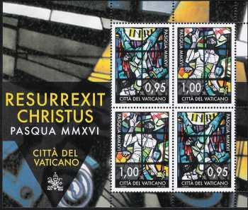 Vaticano 2016 -  Pasqua  -  minifoglio
