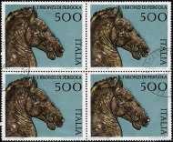 1988 - Patrimonio artistico e culturale italiano - I bronzi di Pergola - L. 500