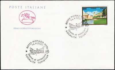 2001 - Turistica -  Pioraco  ( MC )  - FDC  CAVALLINO - Annullo ufficio postale Pioraco