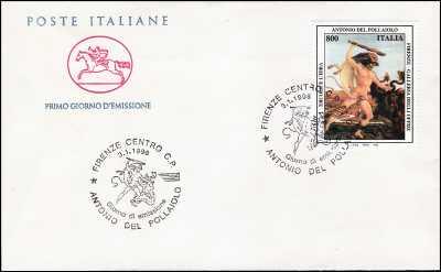 1998 - Antonio del Pollaiolo - FDC  CAVALLINO - Annullo ufficiale Firenze