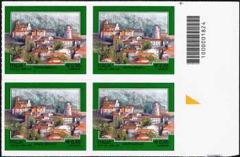 Turistica  44ª serie - Pontelandolfo  (BN) - quartina con codice a barre n° 1824