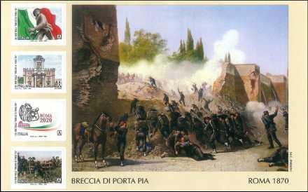 150° Anniversario della Breccia di Porta Pia  -  foglietto