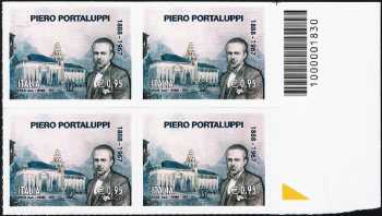 Cinquantenario della morte di Piero Portaluppi - Architetto - quartina con codice a barre n° 1830