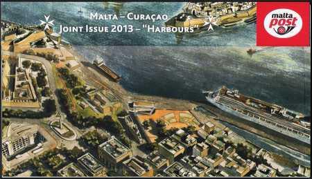 Malta 2013 - Il grande porto naturale - Foglietto - Emissione congiunta con Curaçao