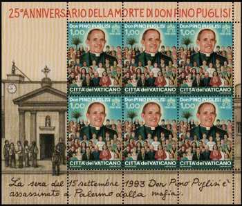 25° Anniversario della morte del Beato Don Pino Puglisi - minifoglio
