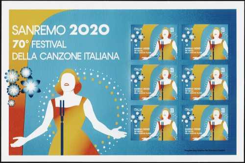 Sanremo 2020 - 70° Festival della canzone Italiana - minifoglio
