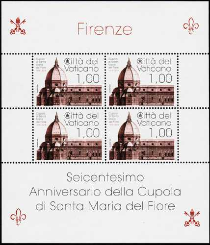 600° Anniversario della cupola di Santa Maria del Fiore a Firenze - minifoglio