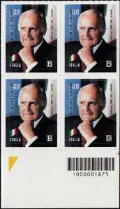 Presidenti della Repubblica : Oscar Luigi Scalfaro - Centenario della nascita - quartina con codice a barre n° 1875