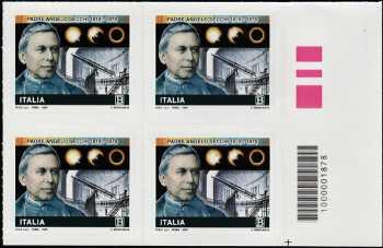 Bicentenario della nascita di Padre Angelo Secchi - quartina con codice a barre n° 1878