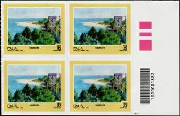 2018 - Turistica  45ª serie - Soverato (CZ) - quartina con codice a barre n° 1882
