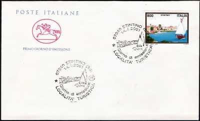 2001 - Turistica -  Stintino ( SS )  - FDC  CAVALLINO - Annullo ufficio postale Stintino