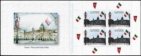 Italia 2004 - Cinquantenario della restituzione della città di Trieste all'Italia - libretto