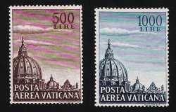 Vaticano 1953 - Posta Aerea - Cupoloni