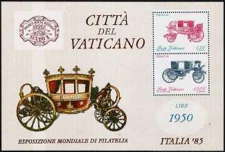 Vaticano 1985 - Esposizione mondiale di filatelia « Italia ' 85 »