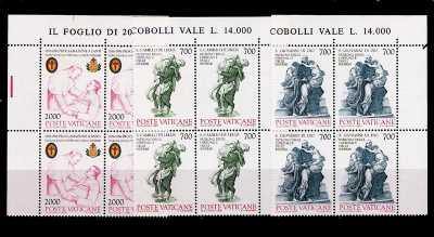 Vaticano 1986 - Centenario della Proclamazione dei santi Camillo de Lellis e Giovanni di Dio - quartine