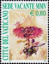 Vaticano 2005 - Sede vacante - 0,80 € - Benedetto XVI
