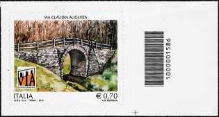 2014 - Patrimonio artistico e culturale italiano : La Via Claudia Augusta - codice a barre n° 1586