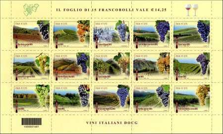 I Vini italiani DOCG - 2015  -  foglietto