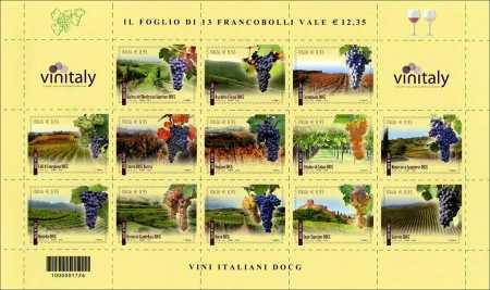 I Vini italiani DOCG - 2016  -  foglietto