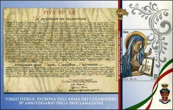 Virgo Fidelis : Patrona dell'Arma dei Carabinieri - 70° Anniversario della proclamazione