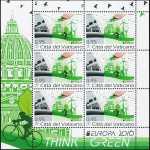 Vaticano 2016 - Europa - Think Green - minifoglio