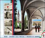 2020 - Scuola Marescialli e Brigadieri dei Carabinieri - 100° Anniversario dell'inizio delle attività - foglietto
