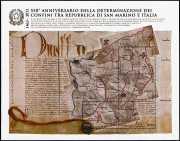 Italia 2013  -  foglietto  -  550° Anniversario della determinazione dei confini tra Repubblica di San Marino ed Italia
