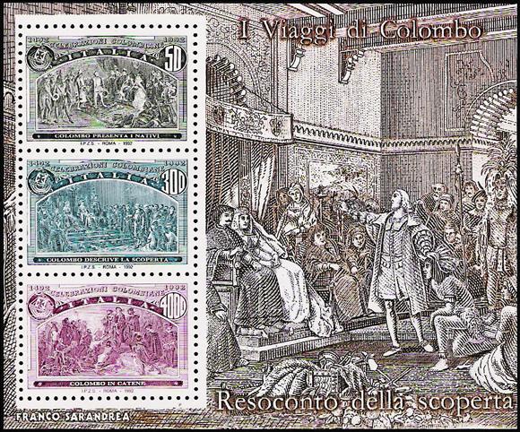 5° Centenario della scoperta dell'America - foglietto 5