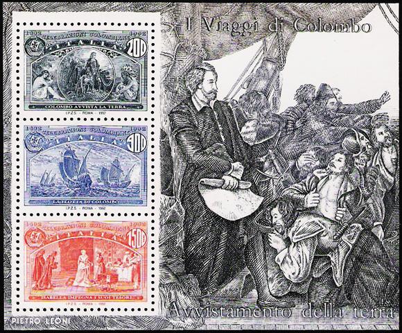5° Centenario della scoperta dell'America - foglietto 2