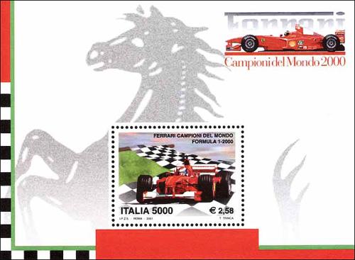 Ferrari campioni del mondo di Formula 1 - foglietto