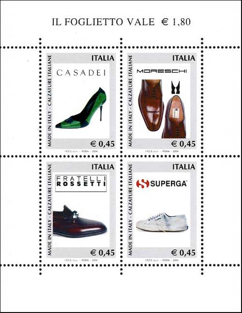 «Made in Italy» - 1ª serie - Calzature italiane  - foglietto