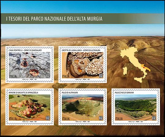 Tesori del Parco Nazionale dell'Alta Murgia - foglietto