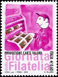Giornata della filatelia - Produzione carte valori
