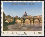 Anno Santo 1975 - Statue di angeli di Ponte S. Angelo - il ponte