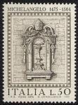 5° Centenario della nascita di Michelangelo Buonarroti -finestrone - Vaticano