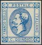 1863 - Effige di Vittorio Emanuele II, a sinistra - tipo precedente modificato