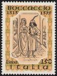 6° Centenario della morte di Giovanni Boccaccio - xilografia da edizione del 1500 della 'Fiammetta'
