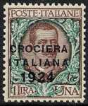 1924 - Crociera italiana nell'America latina - francobolli del 1901-1923 soprastampati