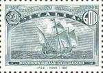 5° Centenario della scoperta dell'America - bandiera e caravella
