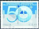 Cinquantenario della trasmissioni televisive in Italia  - disegno di Stefano Maffeis