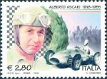 Cinquantenario della morte di Alberto Ascari - pilota automobilistico - ritratto