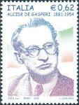 Cinquantenario della morte di Alcide De Gasperi - statista - ritratto