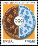 «Pechino 2008» - Giochi Olimpici estivi  - disco con figure di atleti