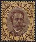 1889 -  Effige di Umberto I in cornici diverse
